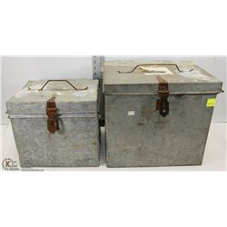 TWO 1967 GALVANIZED EDMONTON BALLOT BOXES.