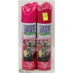 6 CANS OF COUNTRY BOUQUET AIR FRESHENER