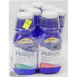 LOT OF 7 PHILLIPS ANTACID BOTTLES