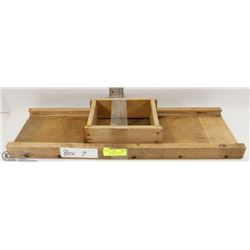 7) VINTAGE CABBAGE SHREDDER WITH SLIDING BOX.