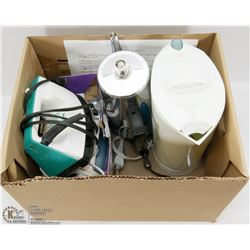 BOX OF ELECTRICAL APPLIANCES