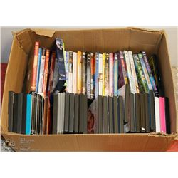 BOX OF OVER 60 DVDS INCL BUFFY THE VAMPIRE SLAYER,