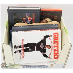 BOX OF WAYNE GRETZKY BOOKS