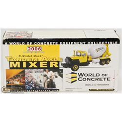 WORLD OF CONCRETE TANDEM AXEL MIXER DIE CAST.