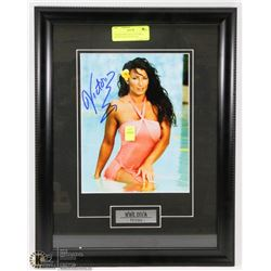 FRAMED WWE DIVA VICTORIA SIGNED PHOTO WITH COA