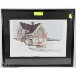 FRAMED COUNTRY GENERAL STORE LITHOGRAPH
