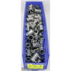 "LARGE CONTAINER OF 1/2"" EMT CONNECTORS"