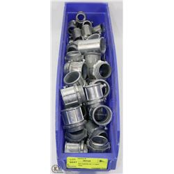 "LARGE CONTAINER OF 1"" EMT CONNECTORS"