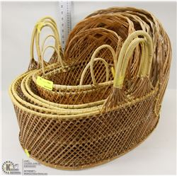 LOT OF WICKER BASKETS