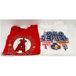 PAIR OF NEW MAJOR LEAGUE BASEBALL SHIRTS SIZE XL &