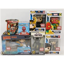 LOT OF ASSORTED POP FIGURES NEW IN BOX