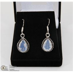 #17-MILKY OPAL SPARKLING GEMSTONE EARRINGS