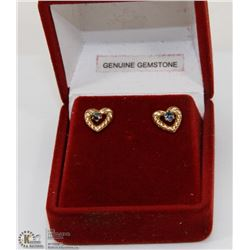ESTATE GENUINE GEMSTONE EARRINGS