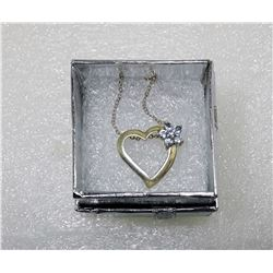 11 - 925 STAMPED SILVER HEART PENDANT