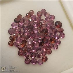 23) GENUINE GARNETS, 2MM ROUNDS, APPROX 4 CTS