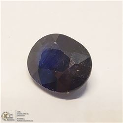 25) ENHANCED BLUE SAPPHIRE, OVAL, APPROX, 8 CTS
