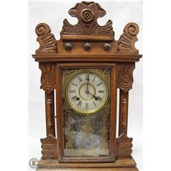 CARVED WOOD CHIME CLOCK