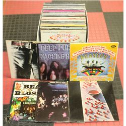 80 ROCK, PSYCH, BLUE AND ASSORTED VINYL LP RECORDS