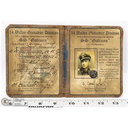 GERMAN WWII 14TH WAFFEN SS DYUSIO GALIZIEN.
