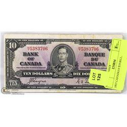 1937 CANADIAN $10 BILL.