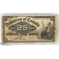 1900 CANADIAN SHINPLASTER.