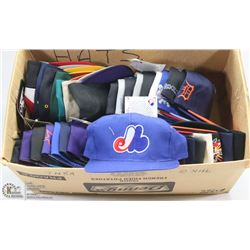 LOT OF SPORTS HATS INCL 11 MLB, 7 NFL, 7 NBA  AND