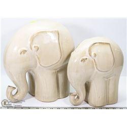 PAIR OF CERAMIC ELEPHANT FIGURES