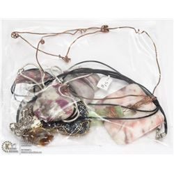 BAG OF NATURAL STONE NECKLACES
