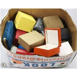 BOX OF ASSORTED JEWELLERY BOXES