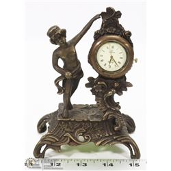 SWITZERLAND MADE 1882 OMEGA CAST DESK CLOCK.