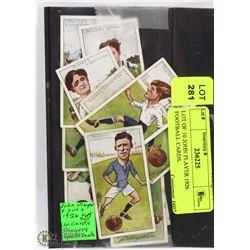 LOT OF 10 JOHN PLAYER 1926 FOOTBALL CARDS.