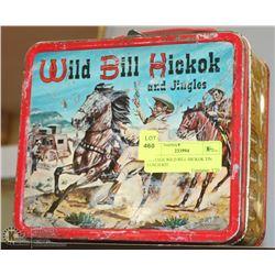 VINTAGE WILD BILL HICKOK TIN LUNCH KIT.