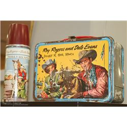 1950S ROY ROGERS TIN LUNCH KIT AND THERMOS.