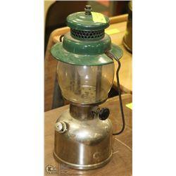 "VINTAGE 13"" COLEMAN LAMP."