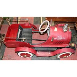 VINTAGE  CITY FIRE TRUCK PEDAL CAR