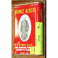 PRINCE ALBERT TOBACCO POCKET TIN.