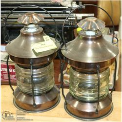 PAIR OF REPLICA SHIP LANTERNS