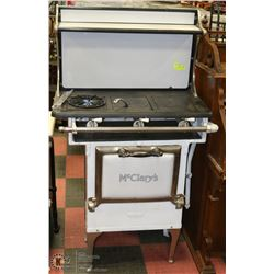 VINTAGE MCCLARY'S WHITE GAS STOVE