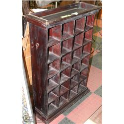 VINTAGE SOLID WOOD MULTI COMPARTMENT CABINET