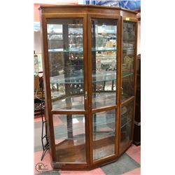 LOCKING ESTATE CHINA CABINET WITH ALL MIRRORS,
