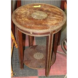 VINTAGE SOUTH ASIAN WOODEN END TABLE / STAND