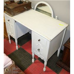 WHITE PAINTED VANITY WITH MIRROR