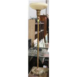 1930S GLASS SHADE TORCHIERE LAMP