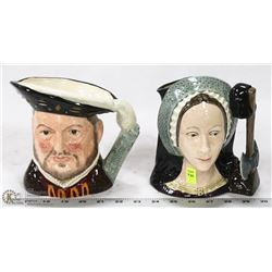PAIR OF ROYAL DOULTON HENRY THE 8TH & ANNE BOLEYN