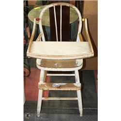 ANTIQUE HIGH CHAIR,