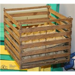 VINTAGE CANADIAN EGG SHIPPING CRATE WITH TRAYS.