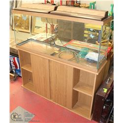 LARGE AQUARIUM WITH ACCESSORIES & STAND.