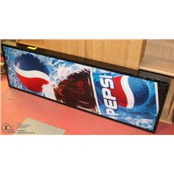"PEPSI SIGN WITH WORKING LIGHTS 15""X47.5"""