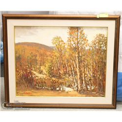 """PROSSEN"" SIGNED"" FALL"" VIEW  FRAMED PAINTING"