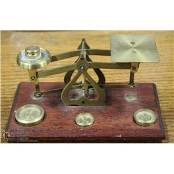 ANTIQUE POSTAL SCALE BRASS BY